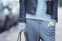 Grey pants style