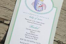 Baby invitationer