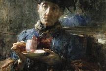 Antonio Mancini.......Paintings