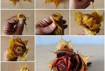 Flowers from dried leaves