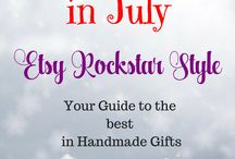 Christmas in July - Etsy Rockstar Gifts and Decor / Looking for the best in Christmas decor and gifts? Give the gift of handmade from the best of Etsy ❤
