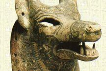 Archeology, mask, figurines etc