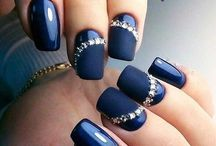 Nail art - blue shades