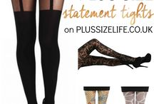 Plus Size Hosiery and Tights / Plus size tights and pantyhose for the curvy, woman. / by Anyonita