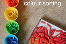 Sorting Activities / Sorting activities for babies, toddlers and preschoolers. Including colours, shapes etc.