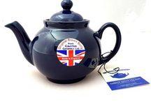 Brown Betty Teapot in Cobalt Blue