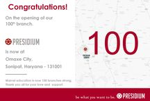 Congratulations! on the opening of our 100th branch / Congratulations! on the opening of our 100th branch. Presidium is now at Omaxe City, Sonipat, Haryana - 131001