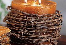 Gyertyadíszítés DIY - Candle decorating DIY