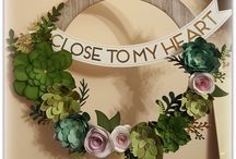Welcome Home Wreath: National Papercrafting Month (January 2017)