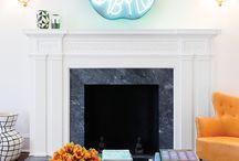 .: Interior details : fireplace :.
