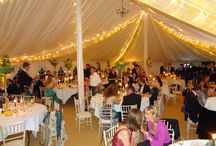 Marquee Lighting / There are so many ways to light up a marquee whether you are looking for fairy lights, up lighters or led flooring Best Intent Marquees can organise it all for you.