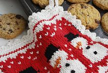 Knit For the Hot Stuff / Pot Holders, Hot Pads, Egg Cosies and Candle Cosies