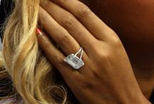 Celebrity engagement rings / Great inspiration for your wedding ! Diamond & colourful engagement rings...