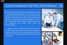 Custom software vs off -the -shelf software