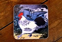 Wildlife Coasters featuring designs by Jenny Tylden-Wright / Super-hardwearing melamine coasters featuring the bold and beautiful designs of British artist Jenny Tylden-Wright.