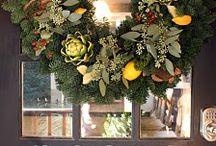 Autumn door decor / Holiday decoration