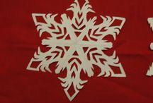snowflakes e decorazioni natalizie