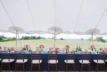 Tented Receptions / Nantucket Weddings designed by Soirée Floral www.soireefloral.com