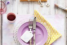 Table settings / by Alma Geosits