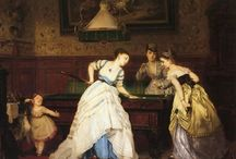 Billiards, Ladies? / While writing my latest Harlequin historical romance, 'Playing the Mistress' I discovered ladies played billiards - and these amazing old paintings. Who knew? www.elizaredgold.com