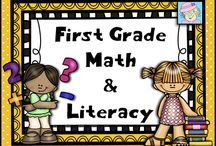 First Grade Math and Literacy / This board is filled with FREE and priced math and literacy items for first grade.  If you pin to this board, please pin one freebie or great idea for every priced item.  Thanks!