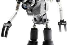 Robot Sculptures / Found Object Robot Art