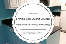 Shining Blue Quartz Countertops