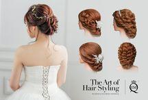 Bridal Hairdo / Bridal hairdo for photography & wedding day.