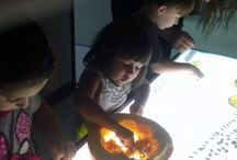 Science, math, light table- provocations