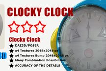 Clocky Clock Robot Droid / Clocky clock is a robot/droid able to move forward or backward in time. Simply set the time of a particular event and pronounce year target.  Be careful, it is particularly spiteful. Before each time travel is advisable to make him a good laugh.