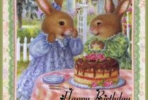 Birthday miceu& bunnies. M.H. o& H.P UK