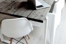table - wood - steel