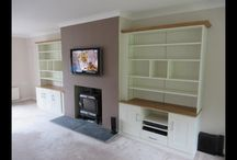 Feature Wall Fitted Storage Solution