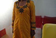 Hand work on dresses by INIFD, Gandhinagar students / Hand work on dresses by INIFD, Gandhinagar students