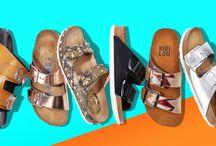 Pantoletten / Was für ein Imagewandel: Galten Birkenstock & Co. bis vor Kurzem noch als gesunde Traditionstreter, punkten die neuen Pantoletten jetzt mit Glamour, Glitzer und jeder Menge Metallic. Die reich verzierten und metallisch schimmernden Slider setzen ein tolles Statements zu Culottes, Jeans und auch Röcken. Pantoletten sind unser liebstes - und bequemstes - Schuhwerk des Sommers! ► http://bit.ly/KONEN-Pantoletten-im-Sommer16-Pinterest