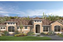 The Valencia - Design Tech Homes / This unique southwestern Mediterranean style home, built exclusively by Design Tech Homes, provides a very efficient use of square footage with the bonus of a fourth bedroom.  The Valencia floor plan features: 1,881 square feet, 4 bedrooms including a spacious master bedroom, and 2 baths.