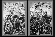 Black and White Paintings / These paintings are inspired by poetry and music.