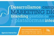 Servicios / Desarrollamos campañas de Marketing Digital: branding, gestión de socialmedia y plataformas interactivas.