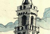 Architecture,chateau,ville abariña et sud