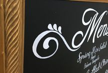 "Custom Menu Design / Custom chalkboard menus to add a little ""something more"" to your celebration!"