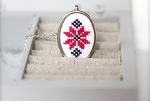 Cross stitch mountings