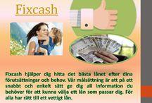Fixcash /  Noggrant väga dina alternativ, så att du ska kunna avgöra vilken typ av lån skulle tjäna dig bästa och ge dig den bästa låneräntan. Fix cash kan erbjuda låga räntor och flexibla lånevillkor på olika typer av lån. Surfa på webbplatsen http://fixcash.se för mer information om Fix cash.
