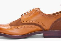 Rag & Bone x Grenson / We teamed up with New York's Rag & Bone to create a wingtip brogue with a two-tone derby lace-up. The wingtip comes in a tan leather and brown suede mix with a pull tab in beige and red.