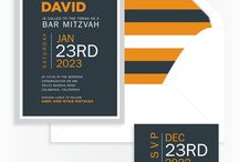 Shades of Orange - Bar Mitzvah / Bar Mitzvah Invitations and party ideas in shades or orange
