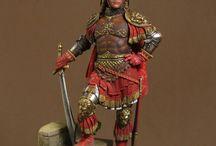 Caballero Renacentista del Siglo XV / Figura de Pegaso Models en 75 mms. Pintura de Gustavo Gil.