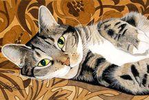 Peintre (Peter Robinson) / Chats