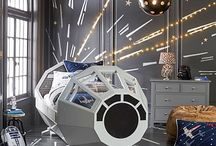 Star Wars Bedroom Ideas / Furniture, toys, paint colors, and more. Everything you would need to create the perfect Star Wars themed bedroom.