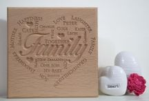 Oak Plaques / Bespoke, solid oak plaques personalised with your words, messageor evenpoem.