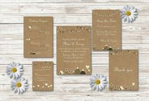 Festival Wedding Set / Wedding Invitation Set suited for a beautiful festival themed wedding
