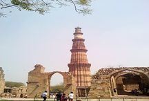 Qutab Minaret Delhi / Qutab Minar : The highest stone tower in India, the Qutub Minar was built by Qutbuddin Aibak (1192).It was built to celebrate Ghori's victory over the Rajputs. The Minar is a five-storey building with a height of 72.5 metres. The first storey of the Qutb Minar was completed in the lifetime of Qutbuddin. His son-in-law and successor, Iltumush, added the next three storeys.